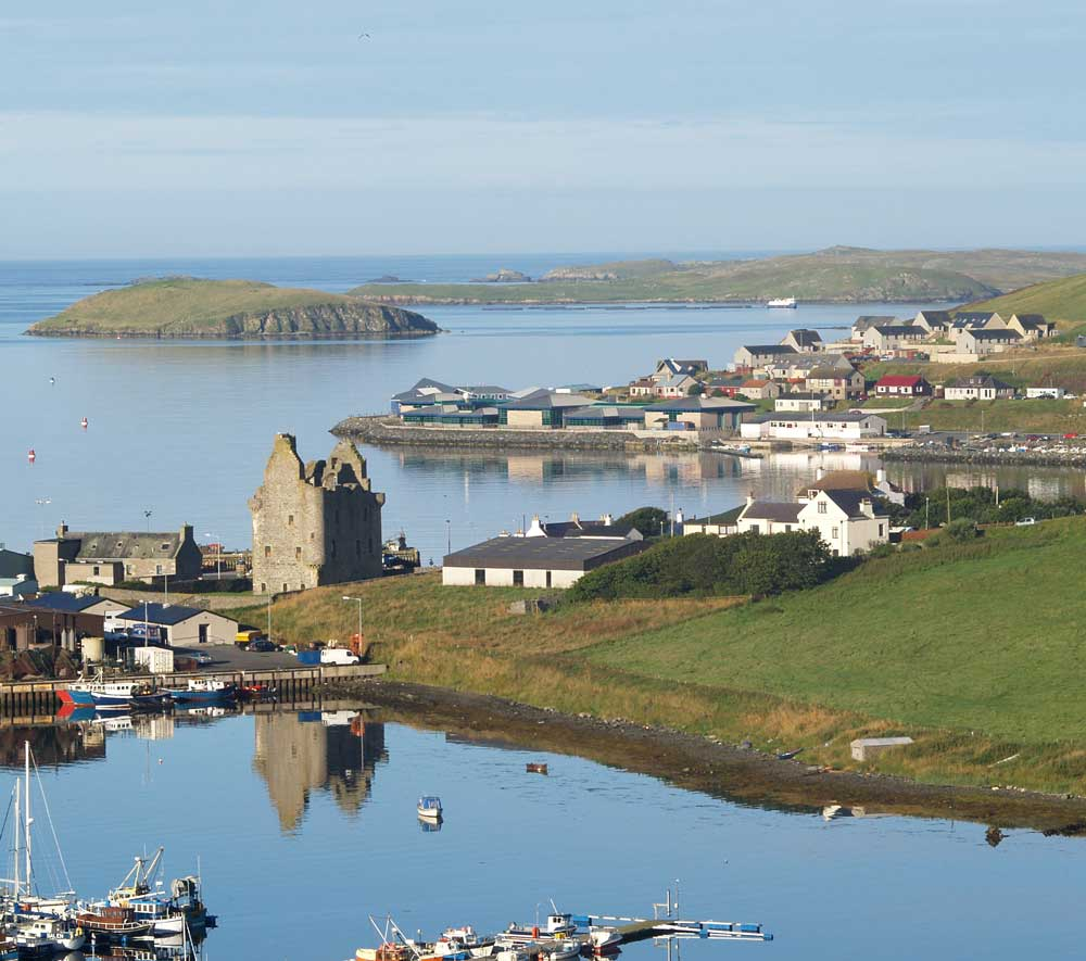 The picturesque village of Scalloway